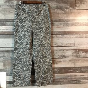AGB Byer pants black lace over tan size 12